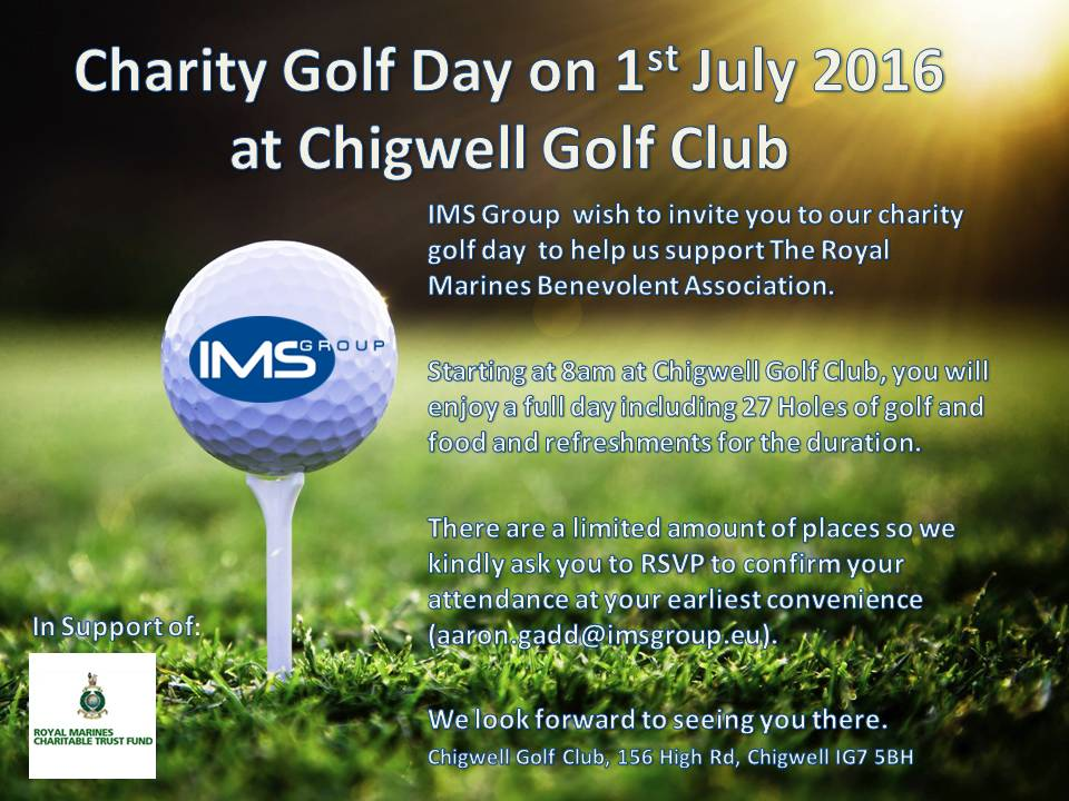 Charity Golf Day on 1st July 2016 everyone Invite